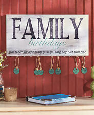 FAMILY BIRTHDAY ART PLAQUE WALL REMINDER BOARD SIGN DECORATIONS TAGS HOME DÉCOR