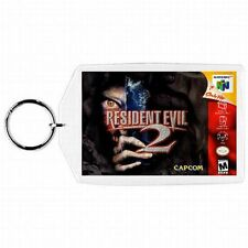 Nintendo 64 N64  RESIDENT EVIL 2  Box Cover Game Cartridge  Keychain New