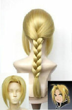 Japan Animation Art Fullmetal Alchemist Edward Elric's cosplay wig +wig cap