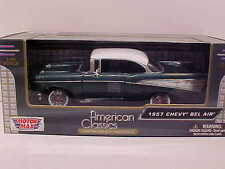 1957 Chevy Bel Air Hard Top Coupe Die-cast Car 1:24 Green by Motormax 8 inch
