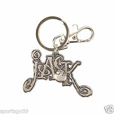DISNEY THE NIGHTMARE BEFORE CHRISTMAS JACK Skellington PEWTER KEY CHAIN RING NWT
