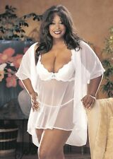 Itimate Atitudes by Shirley of Hollywood White Baby Doll & G-String Plus Size 1X