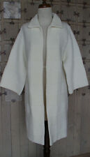 Modern Vtg CUDDLE KNIT Long Sweater Coat 1960's Wool Knit Duster EXCELLENT