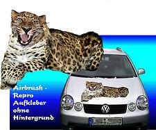 SONDERANGEBOT Sticker Leopard fürweisse Motorhauben Auto Bus Truck Caravan