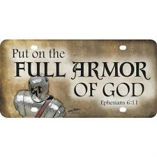 Christian Auto Tag FULL ARMOR OF GOD Eph. 6:11 NEW License Plate LP-179