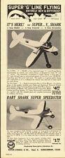 1944 vintage toy ad, Super V Shark, 'G' Line flying model airplane- 050313