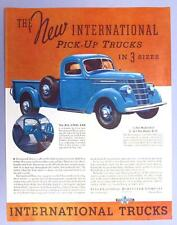 Orignal 1937 International Ad Featuring the Model D-2 Half Ton Model Pickup