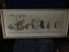 Boris O'Klein - Dirty Dogs of Paris - Signed, Painted etching
