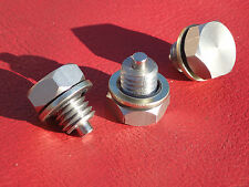 BSA B25 Tr25 441 B50 Stainless magnetic gearbox plug and Dowty washer.