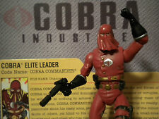 GI JOE~ 2008 CRIMSON GUARD COBRA COMMANDER ~ V29 ~ 25th SENIOR RANKING OFFICER