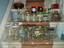 GLASS JARS (x 3 jars) FOR JAM HONEY PICKLES SPICES ETC. LARGE + SMALL AVAILABLE