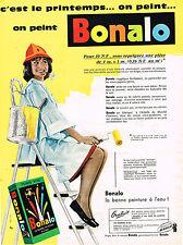 PUBLICITE ADVERTISING 014   1960   BONALO   peinture à l'eau