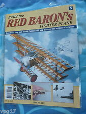 BUILD THE RED BARON'S FIGHTER PLANE FOKKER DR1  HACHETTE  ISSUE 5 NEW SEALED