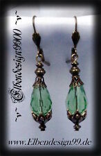~v~Ohrschmuck°Green Drop°Gothic°peridot°Burlesque°Ohrhänger°earrings°LARP~v~