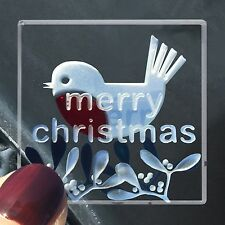 Spaceform Miniature Glass Token Merry Christmas Robin Xmas Present Gift Box 2006