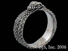 Aes Sedai Great Serpent Ring, Silver, Licensed Wheel of Time Jewelry, Ouroboros