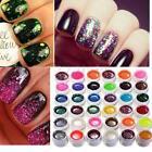 Set 36pz Glitter Colorati Gel UV Nail Art Ricostruzione Unghie Tips Decorazione