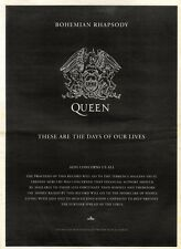 14/12/91 Pgn02 Advert: queen bohemian Rhapsody/these Are The Best Days 15x11""