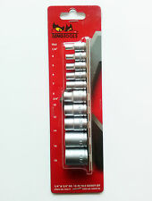"Teng Tools M3814 TX sockets set With 1/4"" and 3/8"" drive 10 PC  Chrome vanadium"
