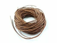 20m 1mm MED BROWN Waxed COTTON CORD Thong String, Beads CRAFT Jewellery Making