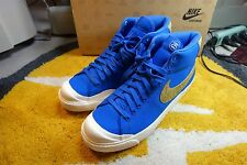 DS NIKE X STUSSY 30TH ALL COURT MID SUPREME BLUE SNAKE SKIN 446166-400 SZ 10.5