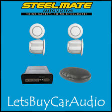 Steelmate ebat ptsc1 Blanco trasero Parking Sensor Kit (con 4 sensores)