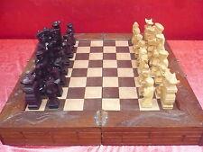 Sublime,ancien Schachspiel (jeu d'échecs)__en bois sculpté__Chine__