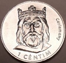 Large Gem Choice Unc Andorra 2002 1 Centim~Charlemagne~Free Shipping