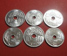 Greece  5 , 10  lepta 1954 1959   BU  (6 coins)