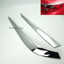 Pair Eyelids Tail Lights Chrome Cover Decoration for Mazda 3 Axela 2014 New