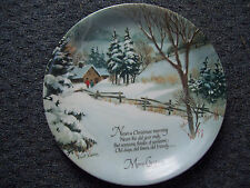 "Christmas Winterscene Series Porcelain Robert Laessig 10¾"" Merry Christmas Plate"
