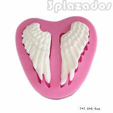 Las alas de ángel de silicona molde de la torta de azúcar para hornear DOS