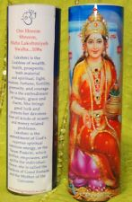 Lakshmi Goddess of Wealth Mantra Meditation Candle embellished with Swarovski Cr