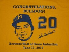 Milwaukee Brewers t-shirt Ken Sanders Wall of Fame Ceremony XL new