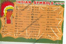 "AMERICAN INDIAN SYMBOLS AND MEANINGS-4""X6"" POSTCARD-(INDIAN4X6-39)"