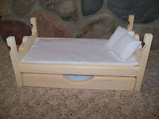 Doll Bed & Trundle made for 18 inch dolls American Girl, 6 pc furniture set