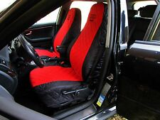 Front Seat Covers for Audi A2 , A3 , A4 , A6 , 80 , 90 Black and Red