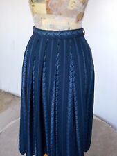 70's GEIGER GORGEOUS FULL TAILORED WINTER SKIRT  LOTS OF PLEATS