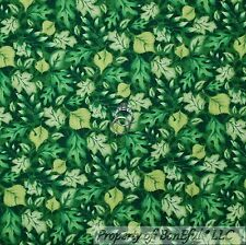 BonEful Fabric Cotton Quilt Green Spring LEAF Grass US Girl Boy Scout Camp SCRAP