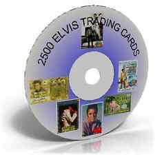 2500 ELVIS TRADING CARDS ON CD, FOR ART OR FOR CLIP ART