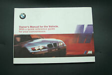 2001 bmw z3 m roadster coupe Owners Manual E36 parts 3 Series new original mz3