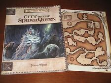 City of the Spider Queen w/map book Forgotten Realms 3rd ed. D&D rpg d20 3.0