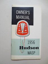 Original 1956 Hudson Wasp owner's manual