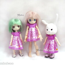 Obitsu 11cm Doll Azone Picco Neemo Picconeemo Outfit One-piece Dress Pink Flower