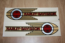 1 Pair Of Vintage NOS Harley Davidson Motorcycle Fuel Tank Decal Right Left Side