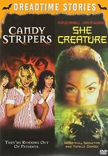 CANDY STRIPERS / SHE CREATURE HORROR DOUBLE SEXY / HOT!!  R18+ R1/4 DVD