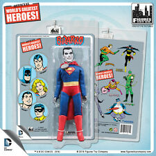 Official DC Comics Superman Bizarro 8 inch Action Figure on Mego-Like Retro Card