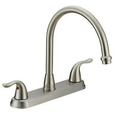 Ez-Flo 10199 Two-Handle Kitchen Faucet without Spray Brushed Nickel