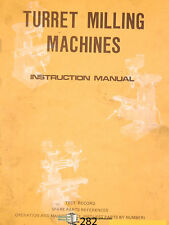 Lagun FTV-2, Milling Machine, Instructions and Parts Manual