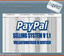 ★PAYPAL SELLING SYSTEM V 1.1 DEUTSCH★ EBAY SCRIPT ZAHLUNGSEINGANG SOFTWARE MRR★